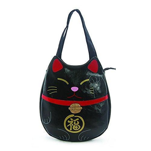 Lucky Cat Vinyl Tote Bag