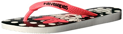 Havaianas Women's Flip Flop Sandals, Disney Stylish, White/C