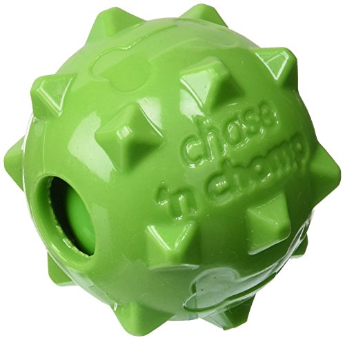 Chase 'n Chomp Amazing Knobble Squeaker Ball Toy for Pets, 2.5-Inch