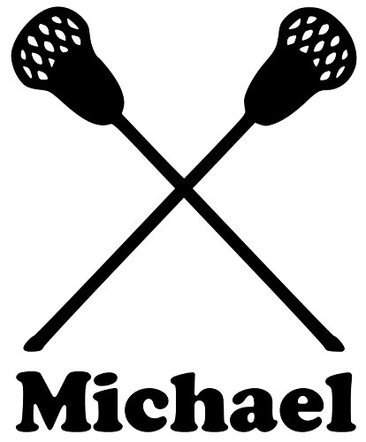 Lacrosse Sticks Vinyl Decal Sticker with Custom Personalized Name - 4