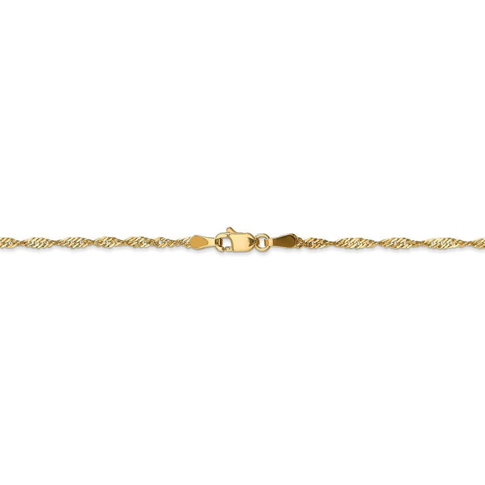 Leslies Real 14kt Yellow Gold 1.6 mm Singapore; 20 inch