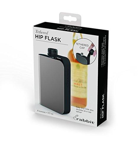 Rabbit Hip Flask Stainless Steel