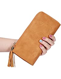 Women's Wallet Purse Clutch Bag PU Leather Card Zippered Wallets