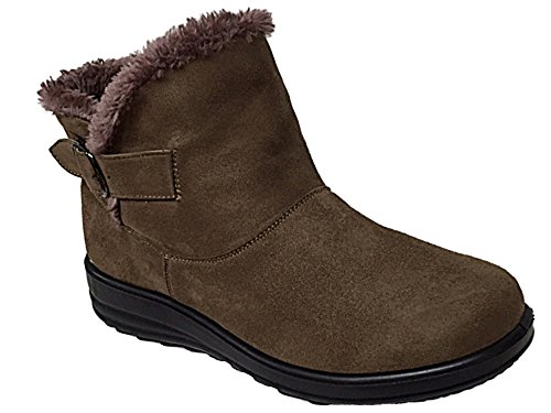 Foster Footwear - Botas Chelsea adultos unisex mujer chica Taupe/Buckle