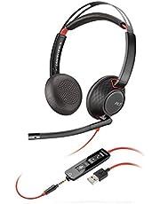 Plantronics Headset/hoofdtelefoon Blackwire C5220 binaural met USB-A & 3,5 mm jack, zwart