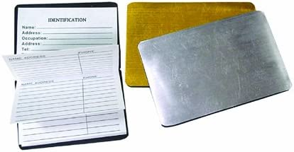 Wallet Size Magnetic Phone Book 3.50 x 2.50 1 Silver