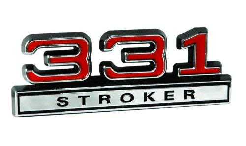 - Black Red & Chrome 5.4 331 Stroker Small Block Engine Emblem