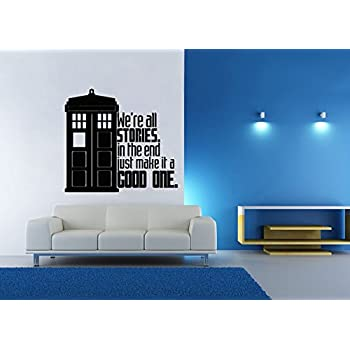 Dr. Who Inspired Tardis Stories Good One Wall Decal Parody Sticker Part 59