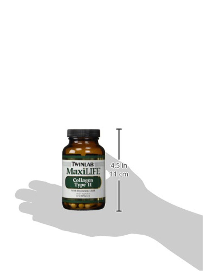 Twinlab MaxiLife Collagen Type II with Hyaluronic Acid, 60 Capsules by Twinlab (Image #5)