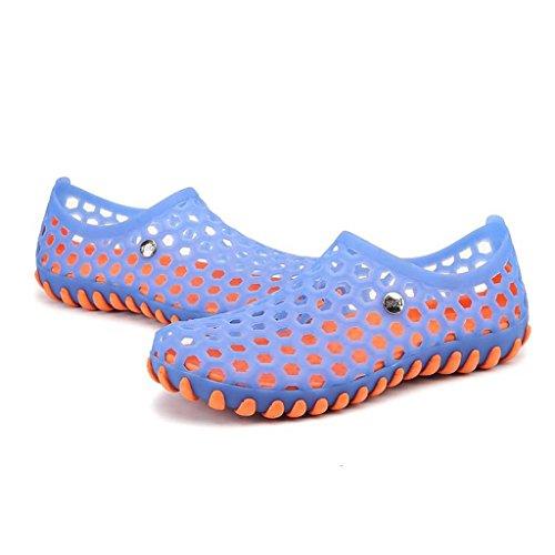 ZXCV Zapatos al aire libre El agujero impermeable de los hombres calza los zapatos de los hombres al aire libre planos Azul