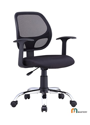 Mastery Mart Office Chair, Heavy Duty Task Chair, Mesh Mid Back for Back Support for Office, Task, Desk, and Computer (with T-Armrests)