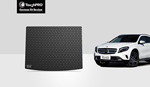 ToughPRO Cargo/Trunk Mat Compatible with Mercedes-Benz GLA180 GLA200 GLA250 GLA45 AMG - All Weather - Heavy Duty - (Made in USA) - Black Rubber - 2014, 2015, 2016, 2017, 2018, 2019, 2020