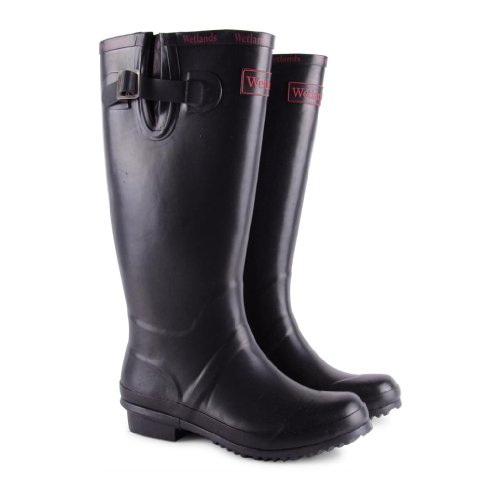 Footwear Sensation - Botas de agua de sintético mujer negro - negro