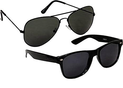 ef5efc9210 UK-YFPU-Y26G Sheomy Aviator   Wayfarer Unisex Sunglasses Combo of 2 (SUN -0000009