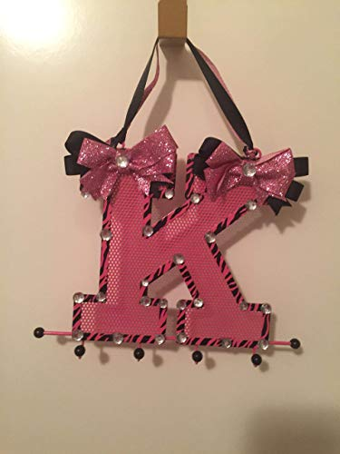- Shiny-N-Glitzy Originals Pink and Black Metal K Bling Key Holder With Pink and Black Bows! Wow EYE Candy Sparkles for your keys! Christmas, Present, Gift, Birthday!