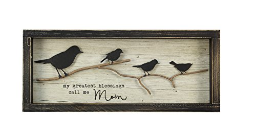 Young's Inc 15.5'' x 1.5'' x 6.5'' Wood Greatest Blessing Bird Sign by Young's