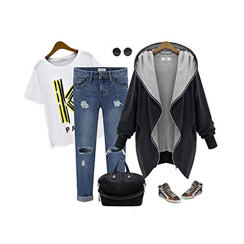 YKARITIANNA 2018 Women's Solid New Zipper Hoodie Kapuzen Jacket Parka Trench Coat Windbreaker Cool