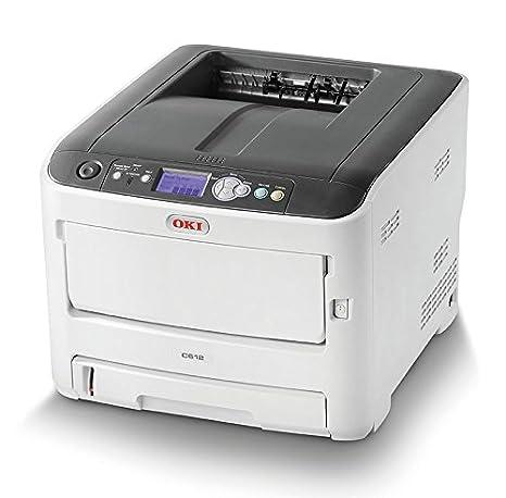 OKI C612N - Impresora con tecnología laser LED, color blanco