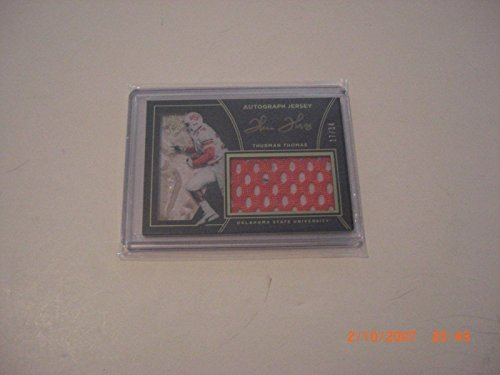 - Thurman Thomas 2016 Panini Black Gold Game Used Jersey Auto 17/34 Signed Card - Panini Certified - Football Game Used Cards