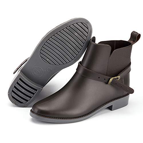 Gomma Donna Scarpe Chelsea Di Per marrone Boot Pastaza Stivali Uomo Rain Fibbia Stivaletti Impermeabile UxAqRqw