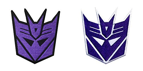 Graduation Embroidered Blanket - J&C Transformers Decepticons Logo (2-Pack) Embroidered Sew/Iron-on Patches