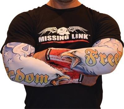 Missing Link Armpro Sleeves , Gender: Mens/Unisex, Size: Sm, Distinct Name: American Freedom, Primary Color: White APAF-S by Missing Link