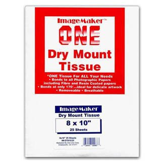 Dot Line IM-DT810/25 Dot Line Dry Mount Tissue 8X10 25 Sheets by Dot Line