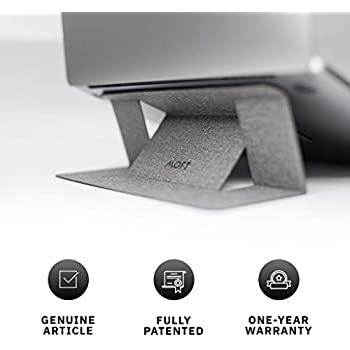 "MOFT Laptop Stand, Invisible Lightweight Laptop Computer Stand, Compatible with MacBook, Air, Pro, Tablets and Laptops up to 15.6"", Patented (Silvery)"