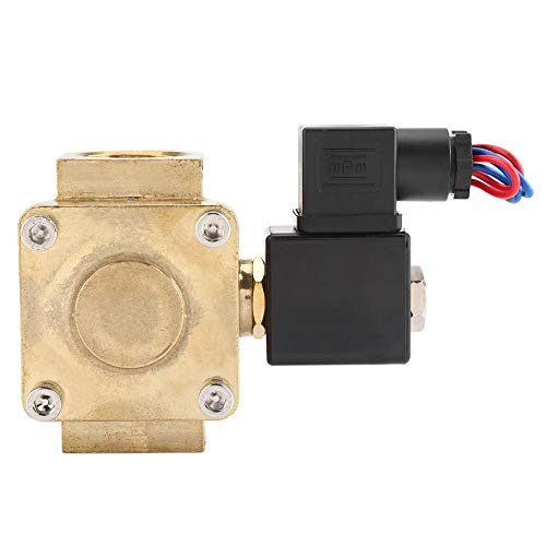 (1''Solenoid Diaphragm Valve, Normally Closed Water Air Solenoid Valve, 2 Way N/C Seal Solenoid Valve, 0.07~1.6MPA(AC110V))
