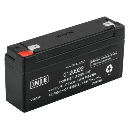 Dual Lite 0120922 Approved 6-volt 3Ah 1.5-Amp for 90-Minute New SLA Battery by Dual-Lite