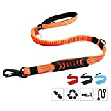 Petvins Heavy Duty Dog Leash – Reflective Nylon Dog Training Rope with Padded Handles – Dog Car Seat Belt – Strong No Pull Bungee for Shock Absorption, Orange For Sale