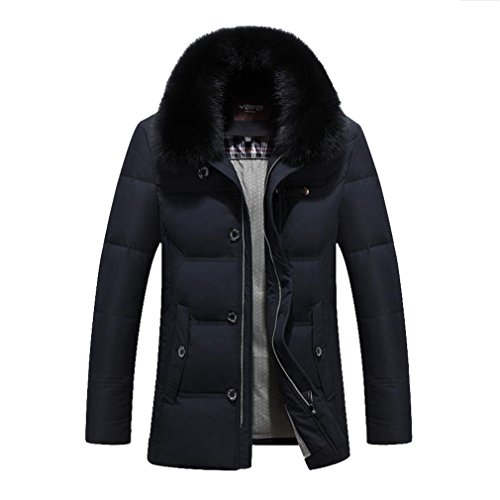 YANXH Winter clothing The New Thickening Men Fur collar Down jacket , black , xxxl by YANXH outdoors