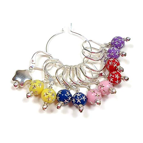 (Handmade Multi-colored Removable Stitch Markers)