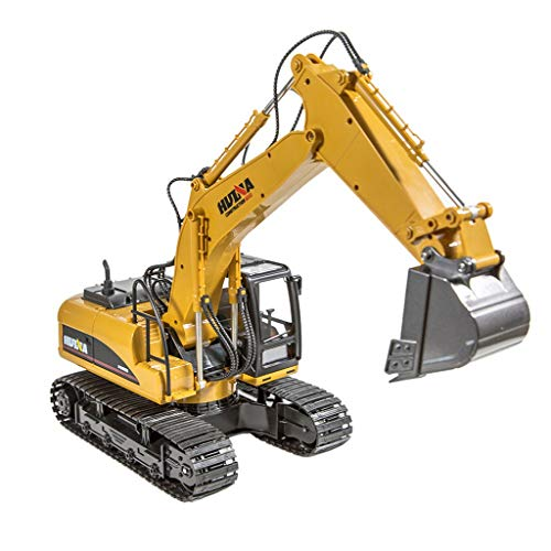 (1:14 RC Truck Remote Control Excavator Crawler Tractor 15 Channel 2.4Ghz Full Function Digger Toys Rechargeable RC Truck Excavator Construction Vehicles Truck)