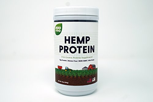 Evo Hemp 50% Protein Powder (1 lb) U.S. Hemp Hearts, Plant Based Protein Supported by Raw Enzymes, Omega 3s and Omega 6s ()