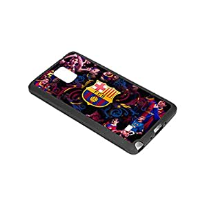 Generic Barcelona FCB Cases Cover for Samsung Galaxy Note 4(Laser Technology)