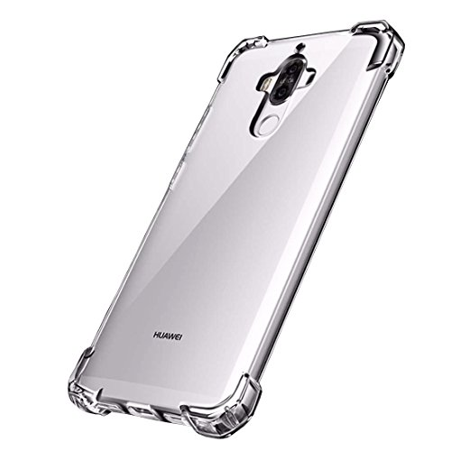 Huawei Mate 9 Case, Premium Crystal Clear Full Cover Protective Mate 9 Case, [Anti-Shock] Flexible TPU Bumper and Hard PC Back Cover Clear Case for Huawei Mate 9-Clear