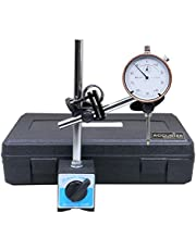 Accusize Industrial Tools 0-1 inch x 0.001 inch Dial Indicator with Magnetic Base Set, 60 Kg Capacity, Eg00-1038