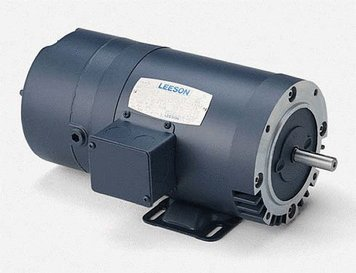 1/2 hp 1725 RPM 56C Frame ODP C-Face (No Base) Brake Motor 208-230/460V Leeson Motor # 111328 C-face Brake Motor