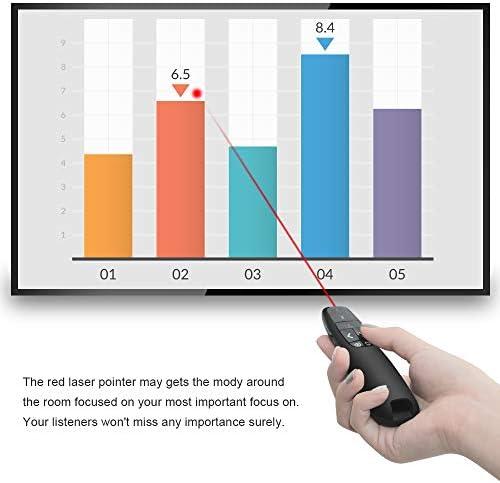 Doosl Laserpointer mit Fernbedienung f/ür Powerpoint Pr/äsentation Batterie AAA Android Keynote Linux Prezi Windows XP//7//8