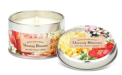 - Michel Design Works Soy Wax Candle, Travel Tin Size, Morning Blossoms