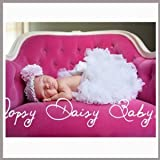 Oopsy Daisy Solid White Baby Newborn Pettiskirt. (Size 0-6m)