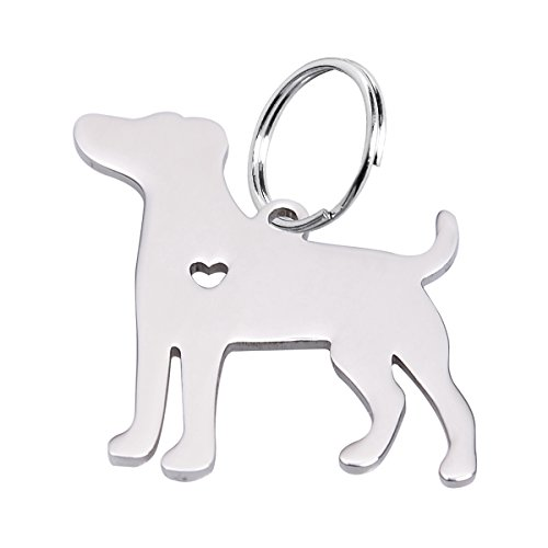 HOUSWEETY 1pc Stainless Steel Jack Russell Terrier Pendant -