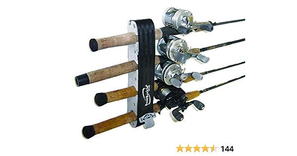 Marpac 54255 Rack PAIR for 4 Fishing Rod White w Elastic Cord Gunwale BoatMarine