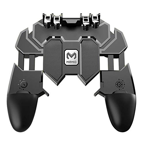 Jannyshop Game Handle AK66 MEMO Mobile Phone Game HelperFinger All-in-One Mobile Controller Game Free Fire Button Joystick Gamepad L1 R1 Trigger for PUBG Six