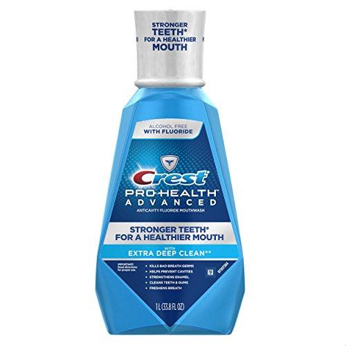Crest Pro-Health Advanced Mouthwash with Extra Deep Clean, Fresh Mint flavor, 33.8 FL OZ