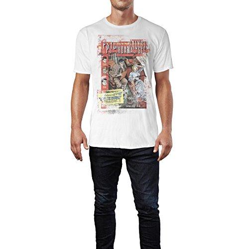 SINUS ART® Psychoanalysis Herren T-Shirts stilvolles weißes Fun Shirt mit tollen Aufdruck