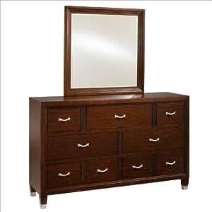 broyhill eastlake 2 drawer dresser with mirror set in warm brown cherry kitchen. Black Bedroom Furniture Sets. Home Design Ideas