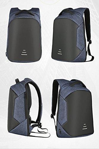 Multifunktionaler Wasserdichter Rucksack, Laptop-Rucksack Mit USB-Aufladungsdiebstahl-Rucksack Männer Schulnotebook-Tasche Oxford-wasserdichter Im Freienreiserucksack Blue