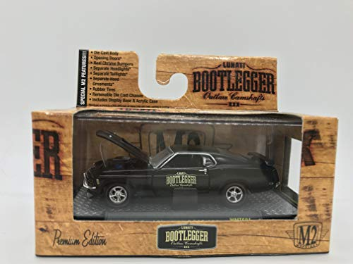 M2 Machines Bootlegger 1970 Ford Mustang BOSS 302 1:64 Scale WMTS01 15-24 Black Details Like NO Other! Over 42 Parts 18 1970 Ford Mustang Boss